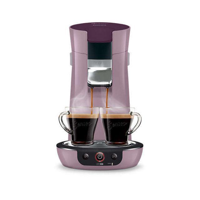 PHILIPS Machine à café à dosettes Viva Café - HD7829/41 - Violet pastel Capacité du réservoir d'eau : 0.9 L - Jusqu'à 6 tasses - Pression de la pompe : 1 bar - Réservoir d'eau amovible - Arrêt automatique - Témoin de réservoir d'eau vide - Indicateur de d
