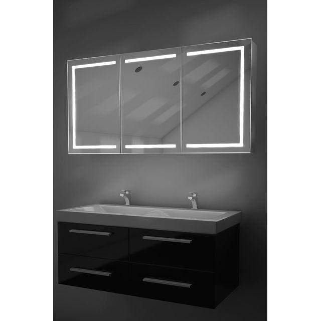 Diamond X Collection - Armoire De Toilette Led Eliza Avec Anti-Buée ...