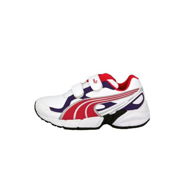 Puma axis 2 sl v jr blanc violet rose enfant chaussures
