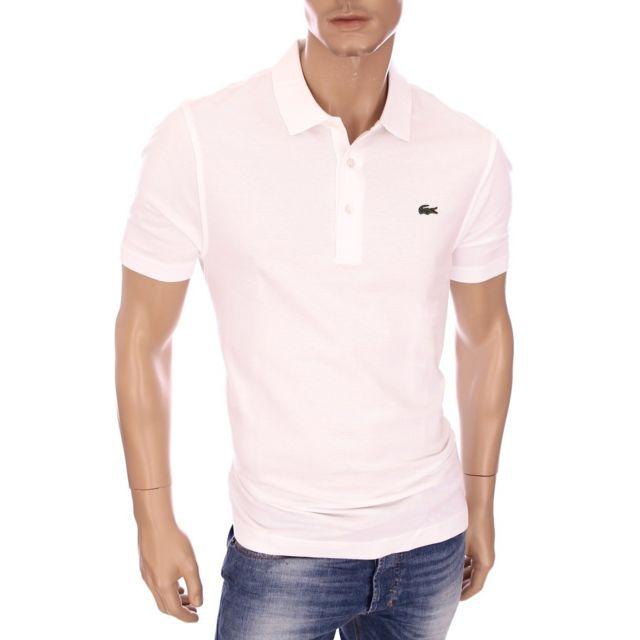 Blanc Homme Pas Coton Piqué 001 Polo Sport Cher L1230 Lacoste 8kXPwOn0