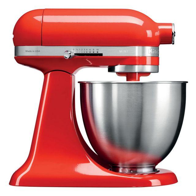 kitchenaid mini robot p tissier multifonction 250w rouge piment 5ksm3311xeht achat. Black Bedroom Furniture Sets. Home Design Ideas