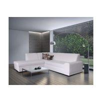 Canape Cuir Blanc Design Achat Canape Cuir Blanc Design Pas Cher - Canape en cuir blanc convertible