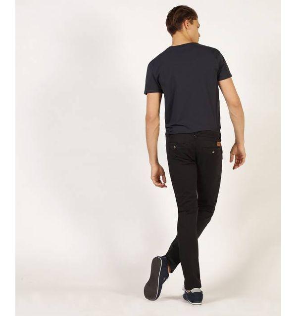 Redskins Pantalon chino black en coton stretch, coupe droite - CODY2 MAHEVAN - 36 Pantalon chino en coton stretch, coupe droite