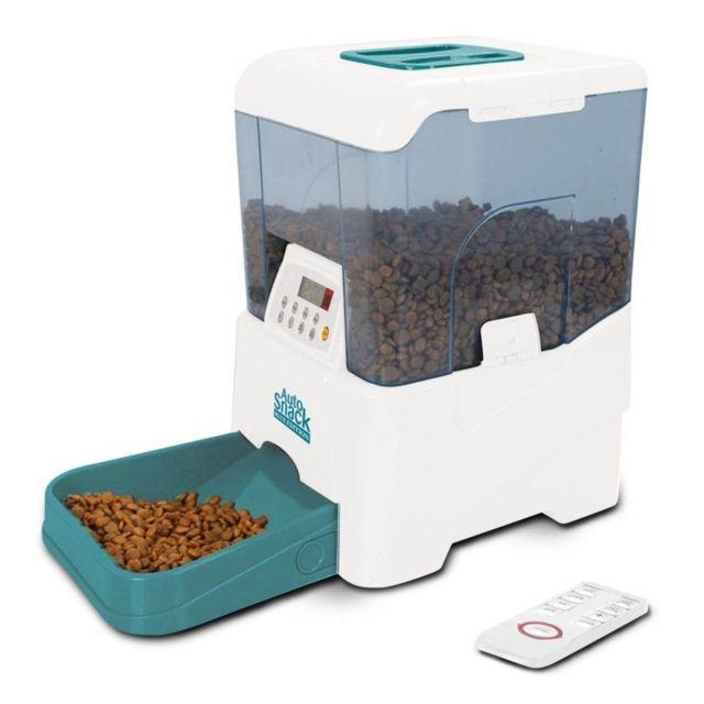 bonareva distributeur de croquette auto snack bleu 10 litres chien et chat pas cher achat. Black Bedroom Furniture Sets. Home Design Ideas