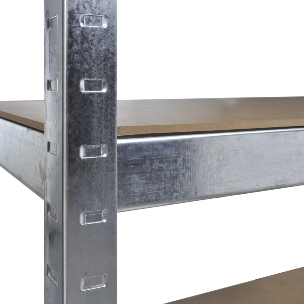Vidaxl - Etagères métal stockage rayonnage industriel 5 planches Brun