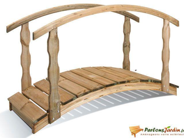 Jardipolys - Pont de jardin en bois Québec petit modèle