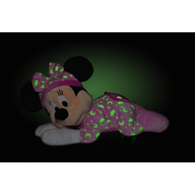 DISNEY - MINNIE - Peluche rose Minnie s'illumine dans le noir - 30 cm - 5877746