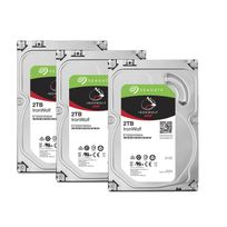 """SEAGATE - Lot de 3 disques durs interne ironwolf 2 to 3.5 """" 5900 rpm 64 mo serial ata 6 gb/s pour nas"""