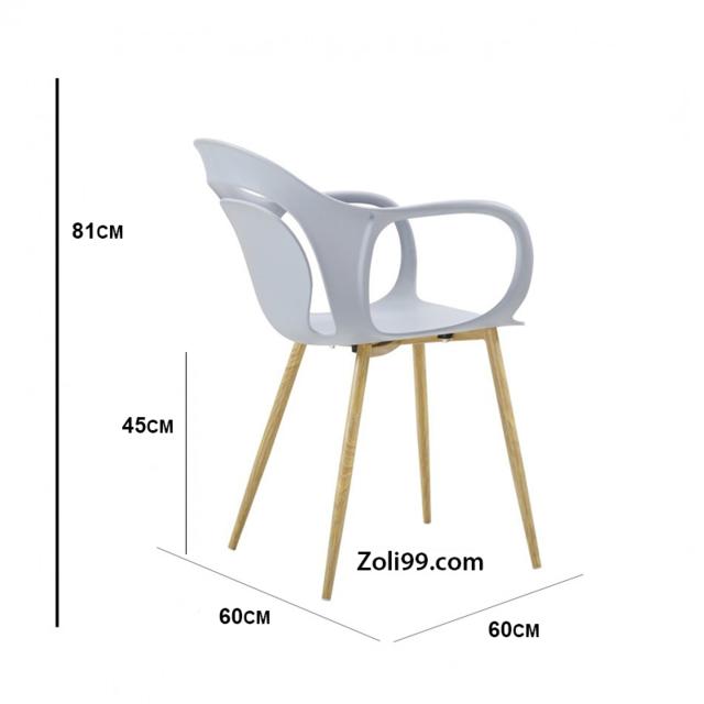 Sven Lot de 4 chaises grises