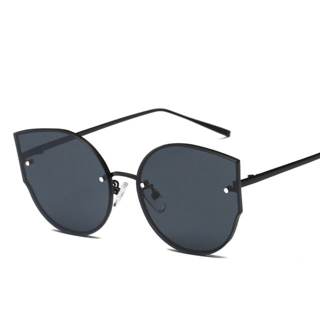 26b8236bb5334f Wewoo - Lunettes de soleil pour femmes Verres plats sans monture en métal  Frame Uv400 lunettes