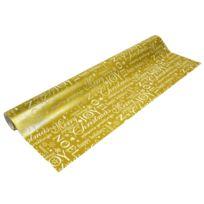 Beaumont - Papier cadeau largeur 50 cm : Doré