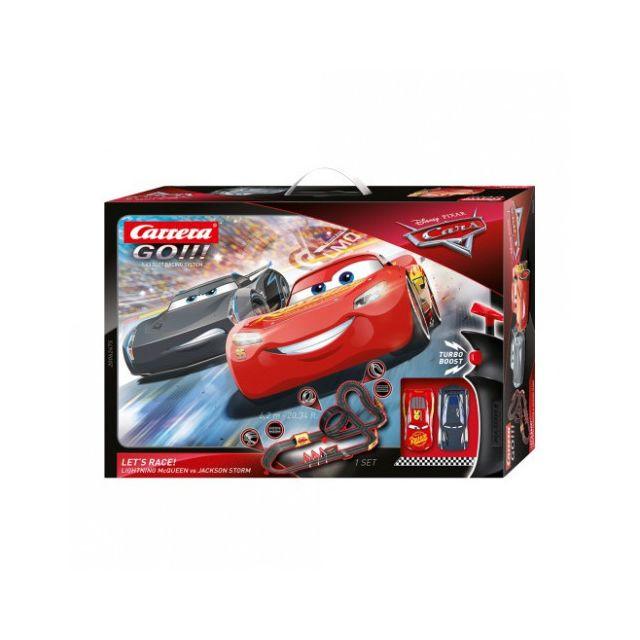 Carrera Circuit voitures Cars Disney - Let's Race 1/43 - Dès 6 ans - Go!!! 62448