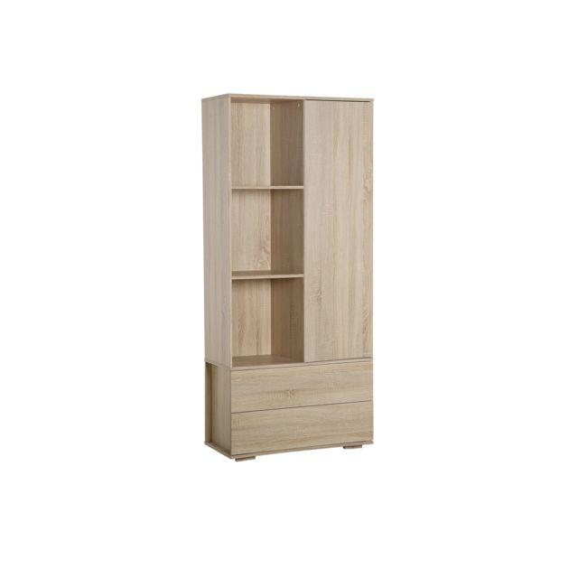 BELIANI Armoire en bois clair ROSARIO - blanc