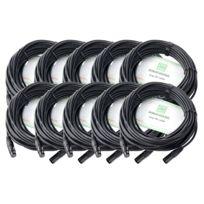 Pronomic - Stage Xfxm-20 Câble Micro Xlr 20m noir Lot de 10