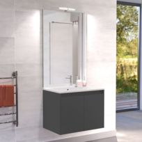CREAZUR   Meuble Salle De Bain Simple Vasque PROLINE 70   Gris Anthracite