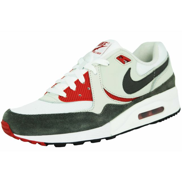 c9acb7c2c78 Nike - air max light essential chaussures mode sneakers homme cuir blanc  gris rouge - pas cher Achat   Vente Baskets homme - RueDuCommerce