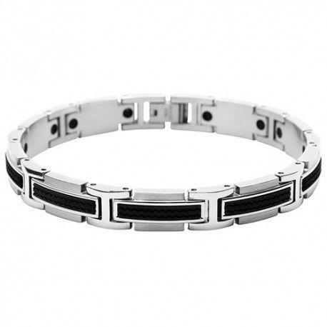 la meilleure attitude 83097 af6cf Bracelet Homme Acier et Silicone - B461081