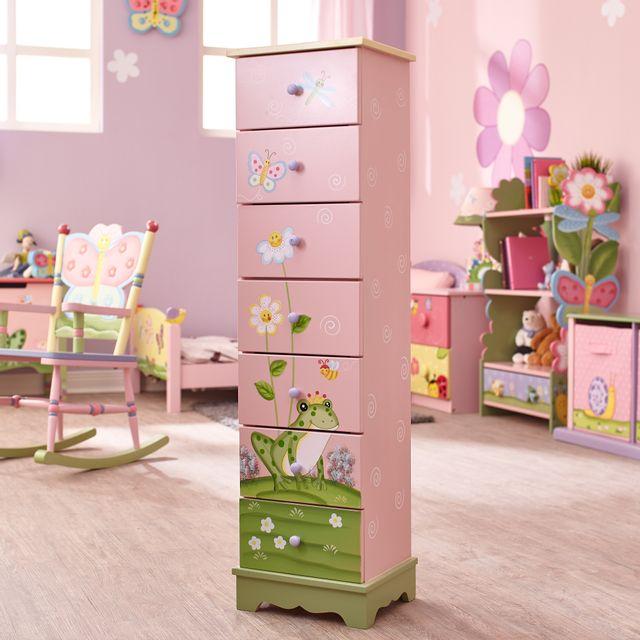 FANTASY FIELDS Commode rangement enfant Magic Garden bois 7 tiroirs chambre fille bébé W-8987A