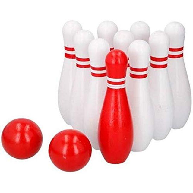 MAISON FUTEE Jeu de quilles en bois bowling pour enfants 12 pièces