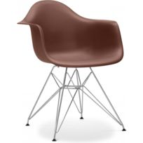 Privatefloor - Chaise Dar Charles Eames Style - Polypropylène Matt Chocolat