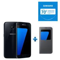 Galaxy S7 SGH-GALAXY-S-7 + S View Cover pour Galaxy S7 - Noir EF-CG930PBEGWW