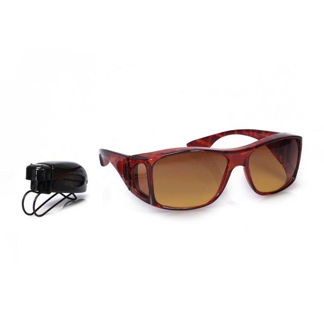 Astuceo - Surlunettes de soleil monture écaille + clip marron plastique 15  x 5 cm 915502da9fcf
