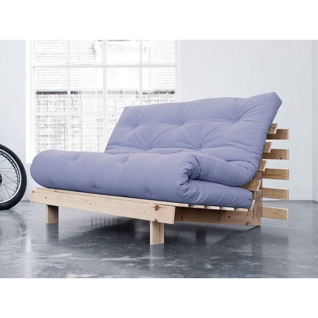 Karup banquette convertible en bois avec matelas futon - Dimensions matelas 2 places ...