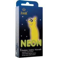 Amor - Preservatif Neon Glowing 6 Units