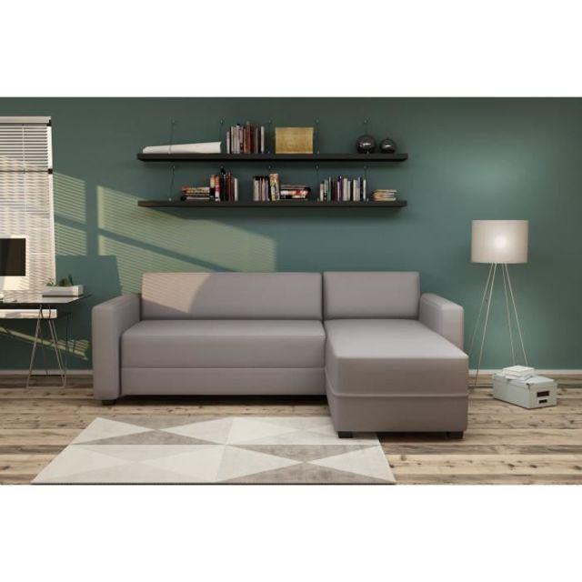 Canape L 3 Cm Canapé Places Sofa 146 Divan Convertible Tissu X Kulma Gris D'angle P Contemporain 206 mNnv8yO0w
