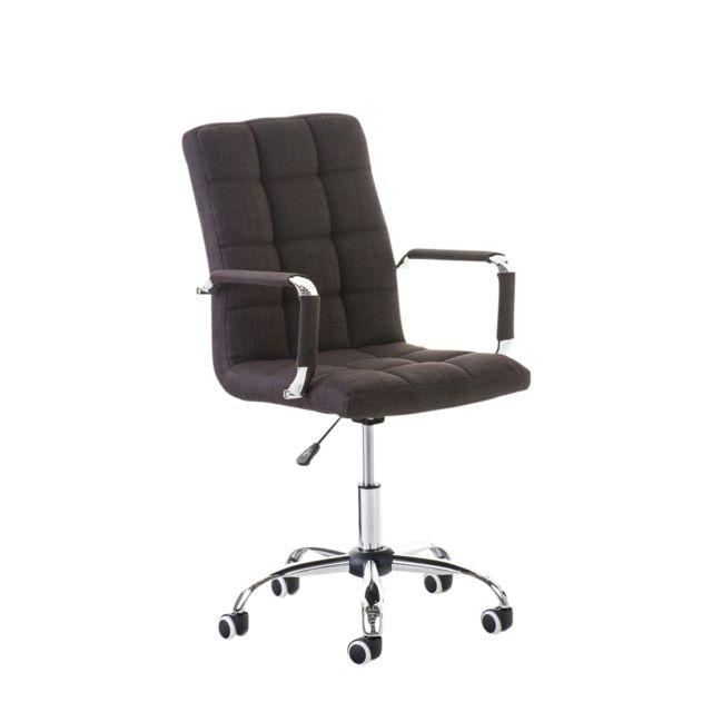 Esthetique chaise de bureau, fauteuil de bureau Deli V2 en tissu