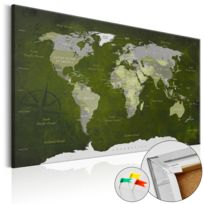 Bimago - Tableau en liège - Malachite World Cork Map