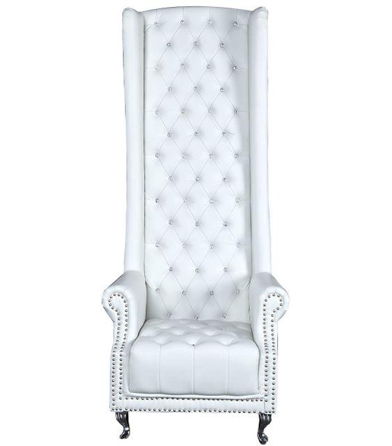 Comforium Fauteuil moderne en pvc coloris blanc