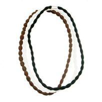 No Name - 3 serres tête cheveux élastiques ondules cheveux - noir marron blanc