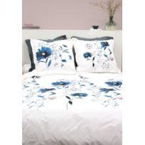 Parure de lit fleur en percale de coton 240x220 cm