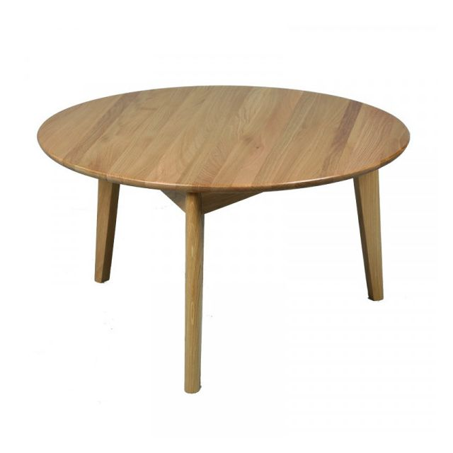Dansmamaison Table basse en bois - Blomer - Diamètre 80 x H 45 cm