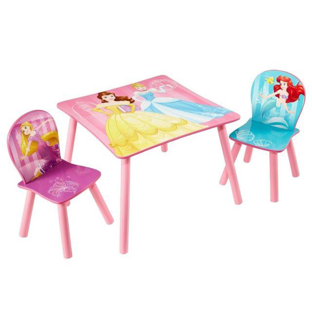Ensemble table et 2 chaises Princesses Disney