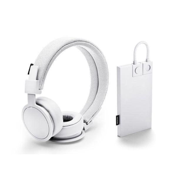 URBAN EARS Casque Plattan ADV blanc avec batterie de secours 2000 mh offerte