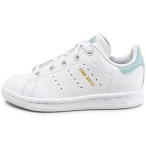 soldes adidas originals stan smith enfant blanche et bleu turquoise pas cher achat vente. Black Bedroom Furniture Sets. Home Design Ideas
