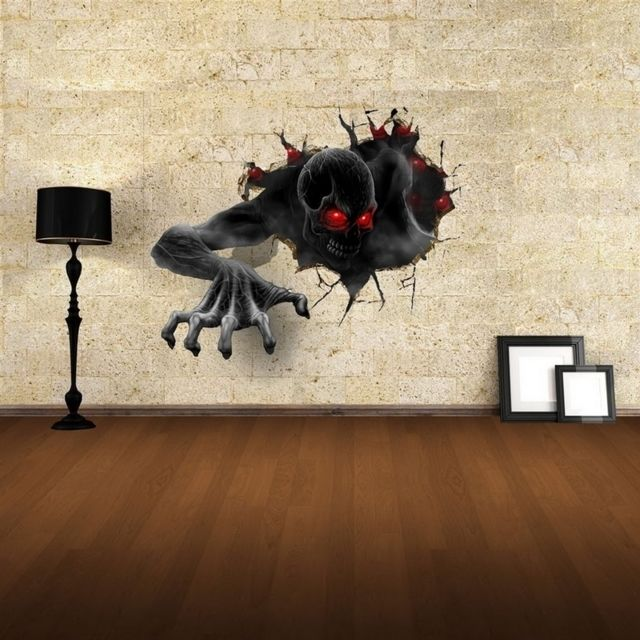 Wewoo   Sticker Mural Stickers Muraux Amovibles 3D Terror Wall Decor,  Taille: 68cm X