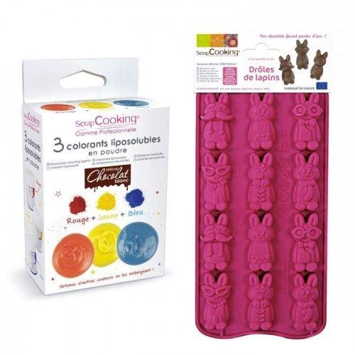 Scrapcooking Coffret chocolats colorés - drôles de lapins