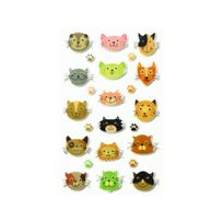 Maildor - Cooky - 24 Stickers 3D - Chats
