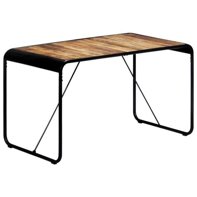 Vidaxl Bois de Manguier Brut Table de Salle à Manger 140x70x76 cm Cuisine