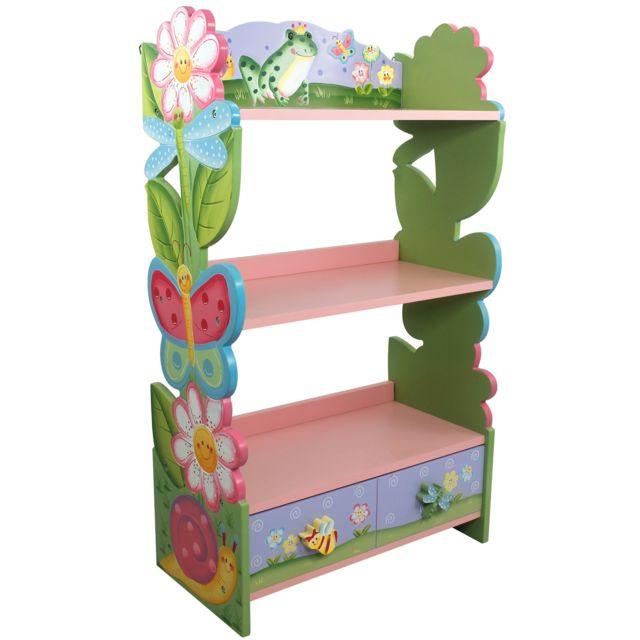 fantasy fields meuble bibliothque tagre 1 tiroir rangement livre jouet enfant bois w 7500a