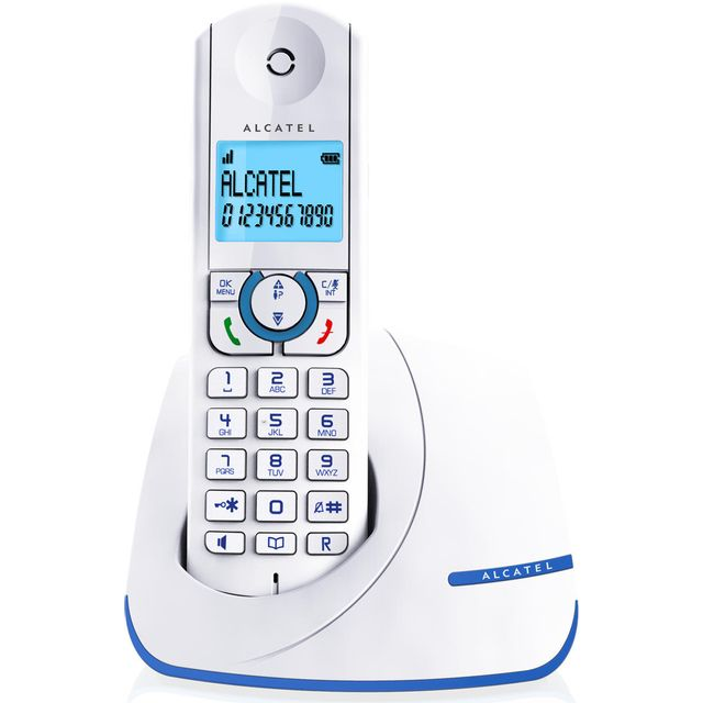 ALCATEL téléphone sans fil dect blanc/bleu - f390bleu alcatel - téléphone sans fil dect blanc/bleu - f390bleu Téléphone sans fil Alcatel VERSATIS F390BLEU raffiné et efficace !Une excellente qualité audio pour profiter pleinement de vos conversations. La