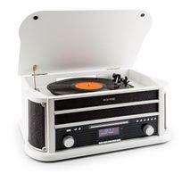 AUNA - Belle Epoque 1908 DAB Chaîne stéréo Rétro Platine vinyle DAB+ Bluetooth FM USB CD MP3 blanc