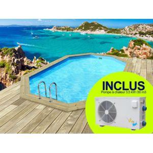 habitat et jardin piscine bois bal ares x x m pompe chaleur 3 5 kw. Black Bedroom Furniture Sets. Home Design Ideas