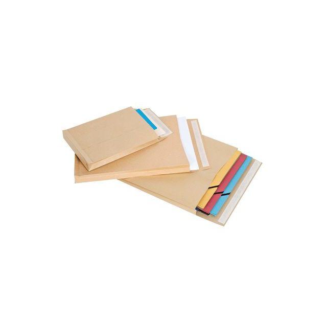 5e840a5ed8 Majuscule First - enveloppe kraft c5 162x229 soufflet 3 cm - paquet de 50  pochettes