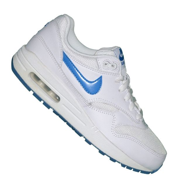 8b63a73f76ac Nike - Basket - Femme - Air Max 1 Glow 127 - Blanc Bleu - pas cher Achat /  Vente Baskets femme - RueDuCommerce