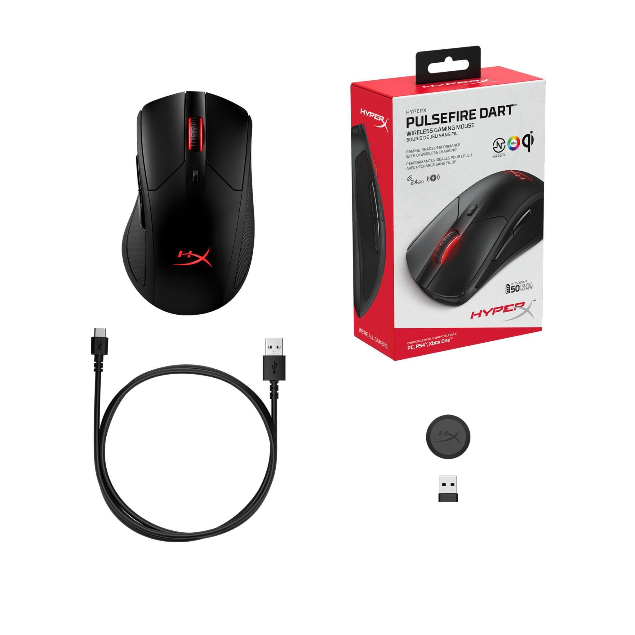 Souris gamer Pulsefire Dart Wireless RGB HyperX