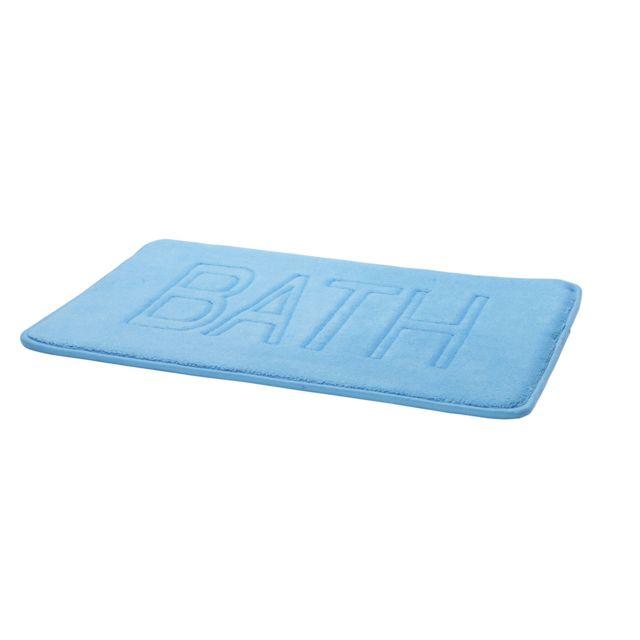 tex home tapis de bain shower en polyester bleu clair pas cher achat vente tapis de bain. Black Bedroom Furniture Sets. Home Design Ideas
